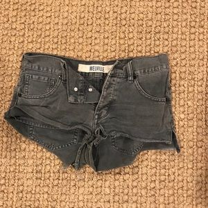 Brandy Melville gray jean shorts
